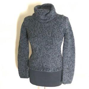 Express Dark Gray Turtleneck Sweater
